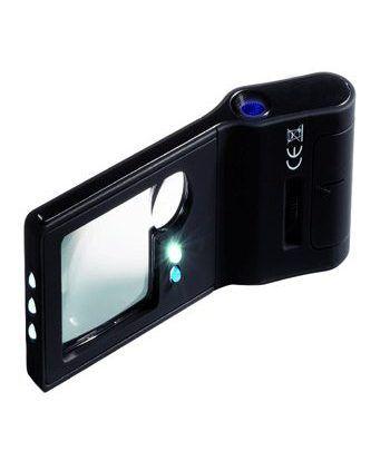 LEUCHTTURM Lupa de bolsillo 6 en 1 con microscopio 15 aumentos Lupas - 1