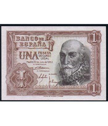 (1953/07/22) Madrid. 1 Peseta. SC. Pareja.  - 1