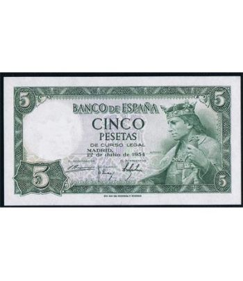 (1954/07/22) Madrid. 5 Pesetas. SC.  - 1