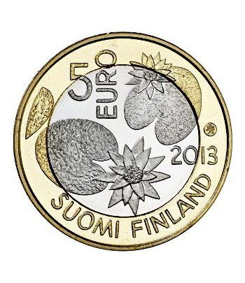 moneda Finlandia 5 Euros 2013. Naturaleza. Verano.  - 1