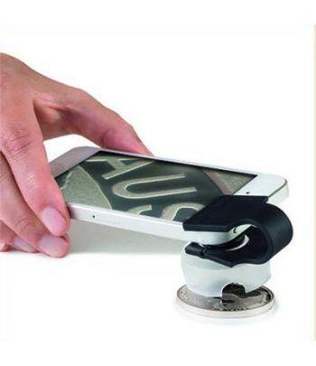 LEUCHTTURM Microscopio para Smartphone 60 aumentos. Lupas - 1