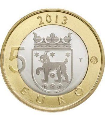 moneda Finlandia 5 Euros 2013 Tavastia.  - 1