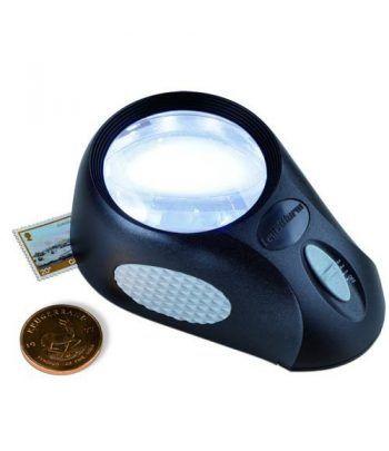 LEUCHTTURM Lupa de apoyo BULLAUGE con 6 LED. 5 aumentos Lupas - 1