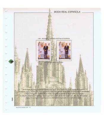 Colección Sellos Boda Infanta Cristina de Borbon 1997.  - 1