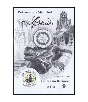 Prueba Lujo 116 Patrimonio Mundial Gaudí 2014. Sello plata.  - 2