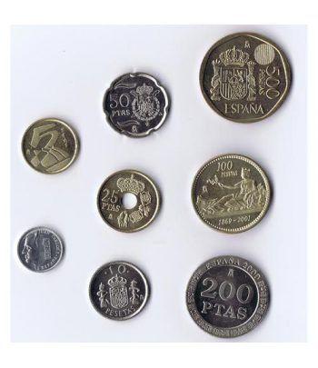 Ultimas monedas de peseta 2000-2001  - 2