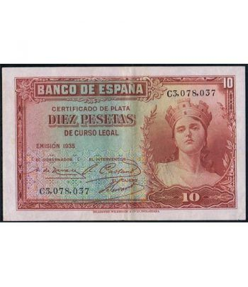 (1935) Banco de España. 10 Pesetas. EBC.  - 1