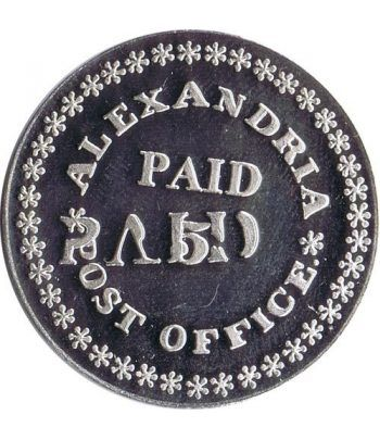 Sello plata Alexandria USA 5 Cs./ P.O. 1848.  - 2