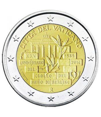 moneda conmemorativa 2 euros Vaticano 2014. Estuche Oficial.  - 1