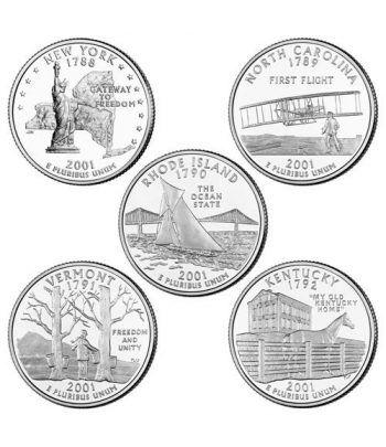 E.E.U.U. 1/4$ 2001 Statehood Quarters (5 monedas)  - 2