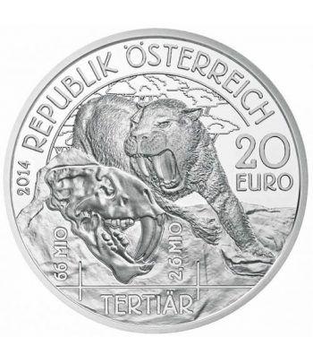 moneda Austria 20 Euros 2014 Vida Prehistórica. Terciario.  - 1