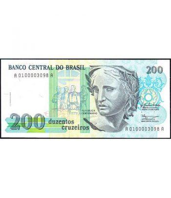 Brasil 200 Cruzeiros 1990 SC.  - 1