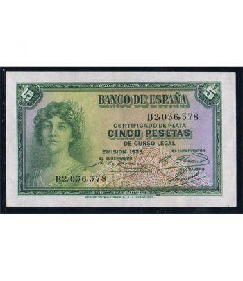 (1935) Banco de España. 5 Pesetas. SC.  - 1