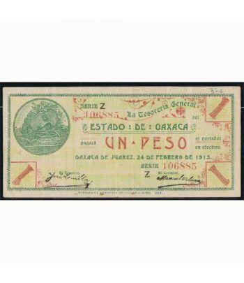 Oaxaca de Juarez 1 peso 24 febrero 1915. MBC.  - 1
