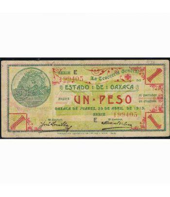 Oaxaca de Juarez 1 peso 20 abril 1915. MBC.  - 1