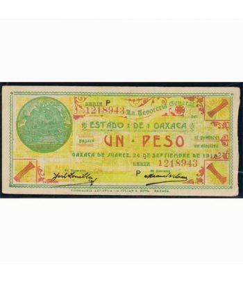 Oaxaca de Juarez 1 peso 24 septiembre 1915. MBC.  - 1
