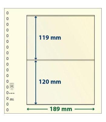 LINDNER Hojas clasificadoras T-Blanko 802204 Hojas Clasificadoras - 2