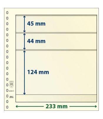 LINDNER Hojas clasificadoras T-Blanko 802311 Paquete de 10 Hojas Clasificadoras - 2