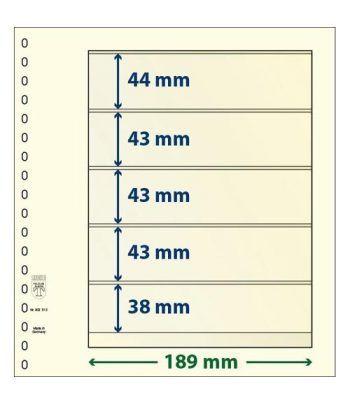 LINDNER Hojas clasificadoras T-Blanko 802512 Paquete de 10 Hojas Clasificadoras - 2