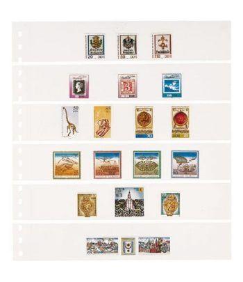 LINDNER Hoja clasificadora Blanca 6 tiras OMNIA 014 Paquete de 10 Hojas Clasificadoras - 2