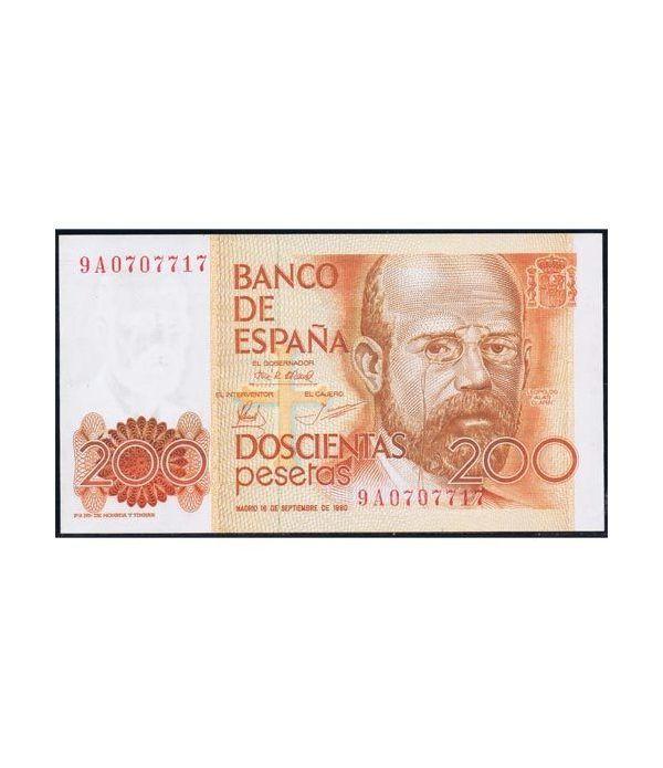 (1980/09/16) 200 Pesetas. SC. Serie 9A  - 1