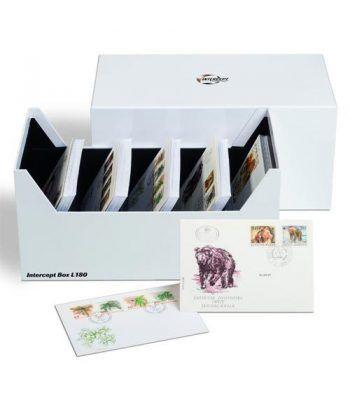 LEUCHTTURM Caja archivadora Intercept para postales y cartas.  - 2