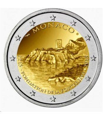 moneda conmemorativa 2 euros Monaco 2015 La Roca. Proof.  - 1