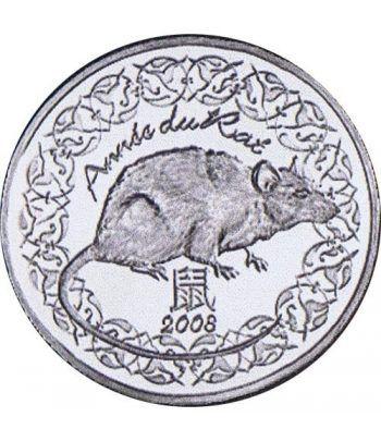 Francia 1/4 € 2008 Año de la Rata.  - 1