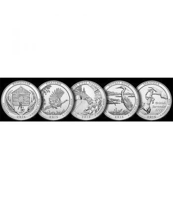 E.E.U.U. 1/4$ 2015 Parques Nacionales (5 monedas) ceca D.  - 2