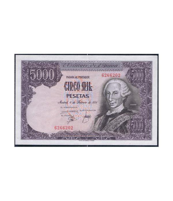 (1976/02/06) Madrid. 5000 Pesetas. SC. Sin Serie 6266202  - 1