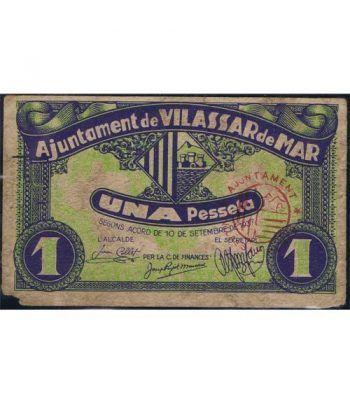 (1937/09/10) 1 Pesseta Ajuntament de Vilassar de Mar.  - 1