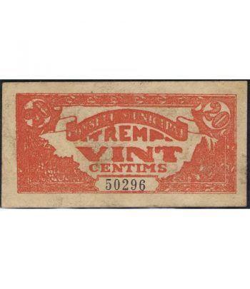 (1937) 20 centims Consell Municipal de Tremp.  - 1