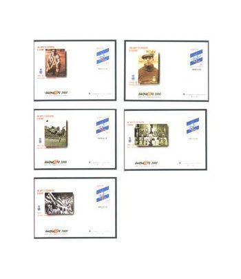 Sobre Entero Postal 059 a,b,c,d,e Barnafil 2000  - 2