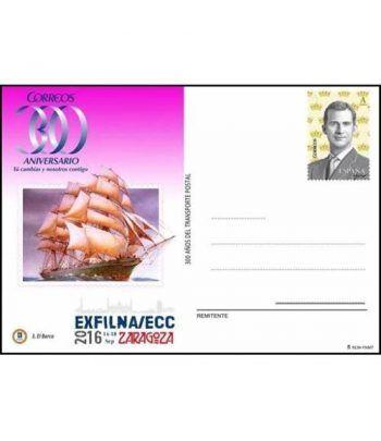 Entero Postal Año 2016 Exfilna/ECC. Barco  - 2