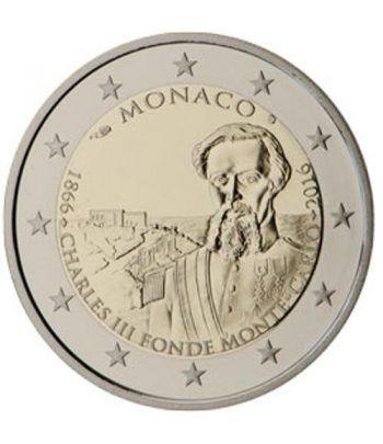moneda conmemorativa 2 euros Monaco 2016 Carlos III Proof.  - 2