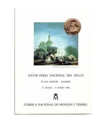 1996 Documento 39 XXVIII Feria Nacional del Sello con Sobre.  - 1
