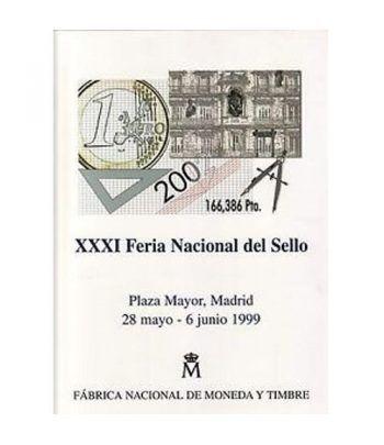 1999 Documento 56 XXXI Feria Nacional del Sello con Sobre  - 1