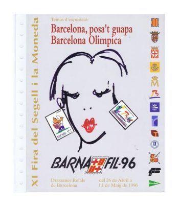 1996 Documento 38 XIº BARNAFIL '96 con sobre.  - 1
