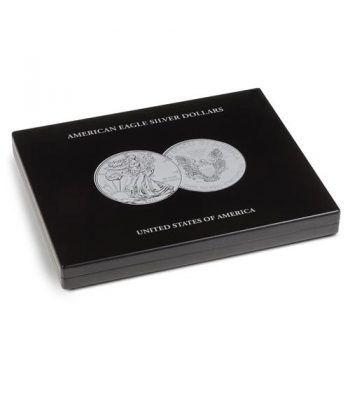 LEUCHTTURM Estuche de madera para 20 monedas Liberty Estuche Monedas - 1