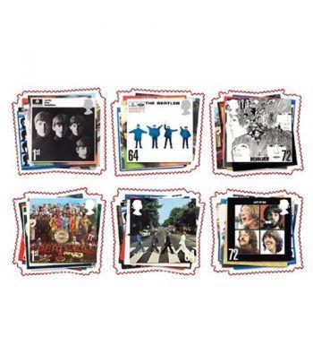Sellos Música Beatles. Inglaterra 2007. 6 valores.  - 2