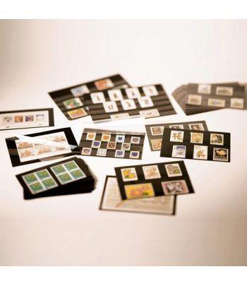 LEUCHTTURM Ficha carton negra 148x85. 2 bandas con pr.(100) Fichas Clasificadoras - 2