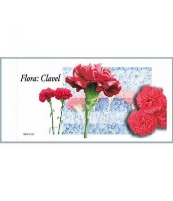 4212c Fauna y Flora CLAVEL (carnet de 100 sellos)  - 1