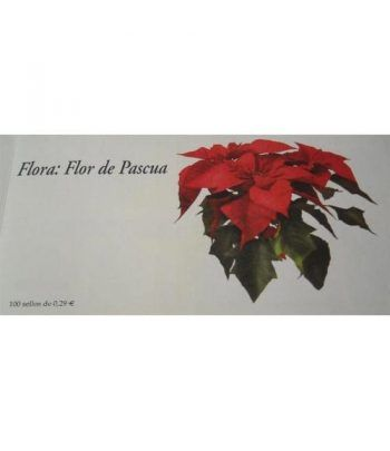 4216c Fauna y Flora FLOR DE PASCUA (carnet de 100 sellos)  - 1