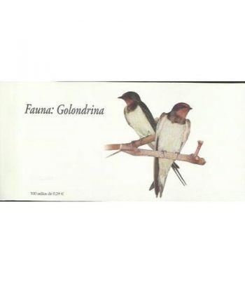 4217c Fauna y Flora GOLONDRINA (carnet de 100 sellos)  - 1
