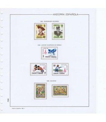 Colección Sellos de Andorra Española 1980/1994.  - 1