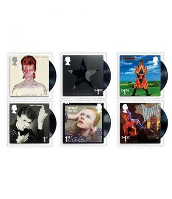Sellos Música David Bowie. Inglaterra 2017. 6 valores.  - 2