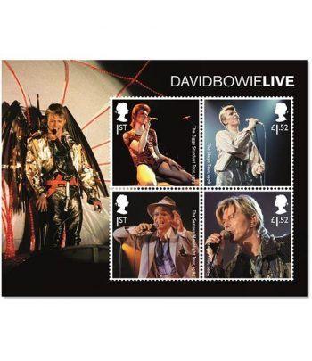 Sellos Música David Bowie. Inglaterra 2017. HB.  - 2