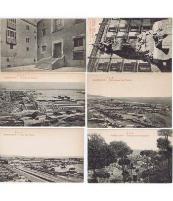 Tarjeta Postal. Imagenes antiguas de Barcelona. 6 tarjetas.  - 2