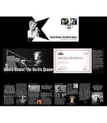 Sellos Música David Bowie. Inglaterra 2017. FDC Berlin Years.  - 1