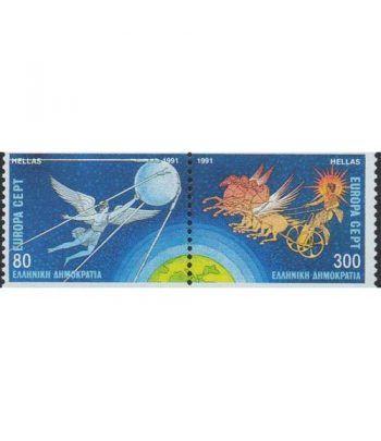 Europa 1991 Grecia (sellos procedentes carnet)  - 2